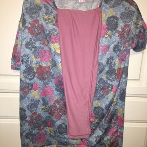LuLaRoe Irma with leggings